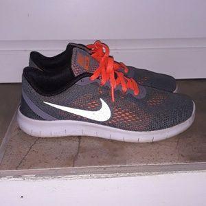 Gray and Orange Nike